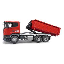 BRUDER Scania R-Serie LKW mit Abrollcontainer