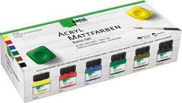 KREUL Acryl Mattfarben Basis-Set