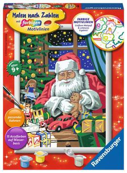 RAVENSBURGER Malen nach Zahlen Weihnachtswerkstatt