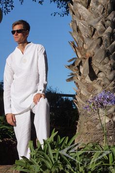 Herren Leinen Hemd in weiß