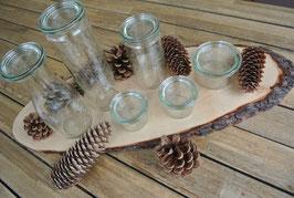 """6 Stck. traditionelle """"Weck"""" Gläser im SET, 5 Größen, Schwarzwälder Tradition"""
