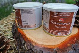 2 x  Schwarzwurst à 185g in der Dose - Metzgerei Winterhalter - Elzach