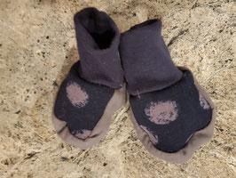 Babyschuhe Dunkelblau Graugepunktet