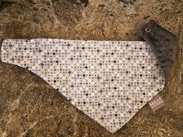 Wendetuch Sternchen Grau mit Jersey oder Minky