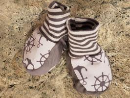 Babyschuhe Anker Grau