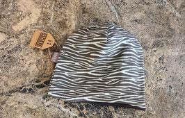 Wendebeanie Zebra Mint