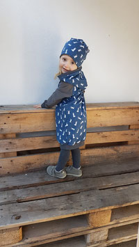 Kapuzenkleid Hasen Blau