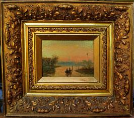 6 19世紀の著名なオランダ美術 風景画 油彩画 額付き アンティーク Charles Seikett  (取り扱い終了)