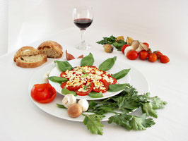 Tomatensalat mit Babymozarella