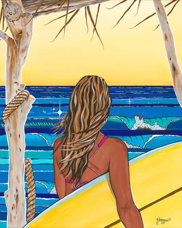 "Giclèe ""Looking for Waves"""