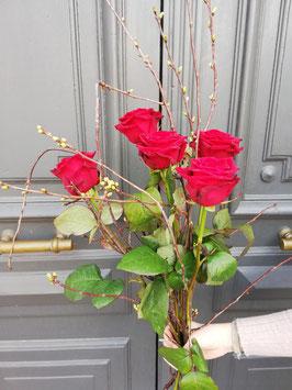 bouquet de grande roses rouge