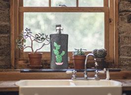 Kaktus Glasflasche mit Filztasche