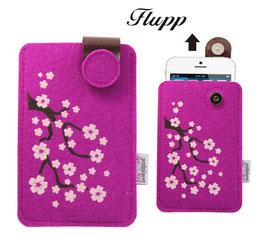 Handy Flupp Etui Kirschblüten