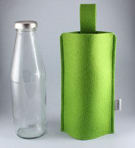 Filztasche mit Glasflasche