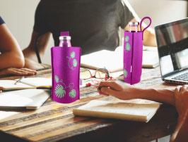 Monstera Glasflasche mit Filztasche