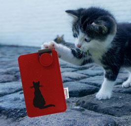 Handy Flupp Etui Katze