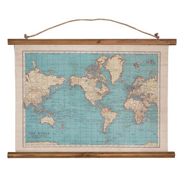Carte du Monde Toile