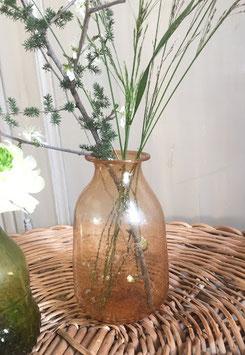 Vase Rose en verre recyclé