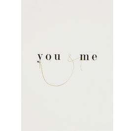 """Carte Postale """"you & me"""""""