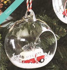Boule de Noël en verre avec combi