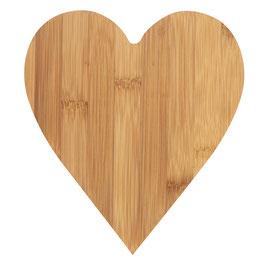 Planche à découper Cœur Bambou