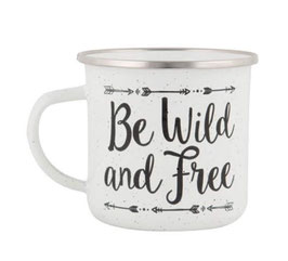 "Mug émail ""Be Wild and Free"""