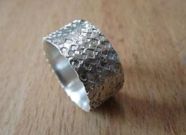 Silber Ring gehämmert Nr. 15