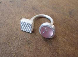 offener Ring Rosenquarz  Nr. 142