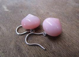 Ohrhänger mit Pink Opal Nr. 60