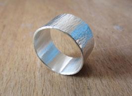 Silber Ring gehämmert Nr. 8