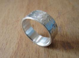 Silber Ring gehämmert Nr. 12