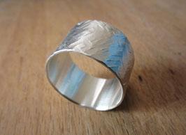 Silber Ring gehämmert Nr. 11
