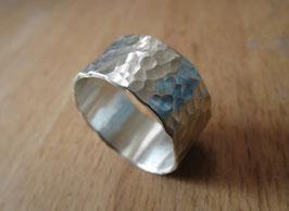 Silber Ring gehämmert Nr. 13