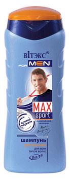 Шампунь для мужчин для всех типов волос, Max sport, 250мл.