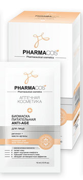 Биомаска питательная antiage для лица, Pharmacos, 10саше по 10мл