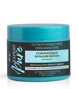 """Освежающая бальзам-маска для волос """"Суперочищение и увлажнение"""", Expert Pure, 300мл"""