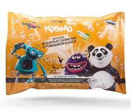 Детские влажные салфетки с ромашкой и алоэ, Kosmo kids, 15шт.