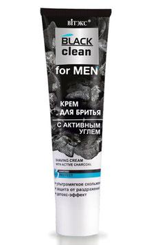 КРЕМ ДЛЯ БРИТЬЯ С АКТИВНЫМ УГЛЕМ, BLACK CLEAN FOR MEN, 100мл.