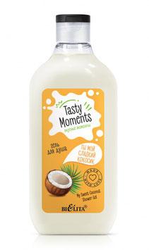 """Гель для душа """"Ты мой сладкий кокосик"""", Tasty moments, 300мл"""