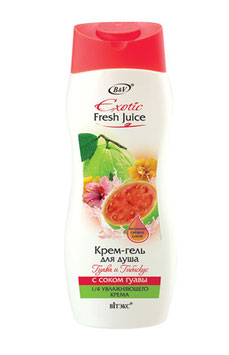 КРЕМ-ГЕЛЬ ДЛЯ ДУША ГУАВА И ГИБИСКУС С СОКОМ ГУАВЫ, EXOTIC FRESH JUICE, 500мл.