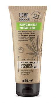 Гель для душа «Натуральное очищение и увлажнение», Hemp green, 200мл