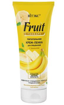 Питательная крем-пенка для умывания с бананом, Fruit Therapy / лицо, 200мл.