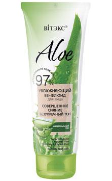 Увлажняющий ВВ-флюид для лица «Совершенное сияние. Безупречный тон», Aloe 97%, 50мл.
