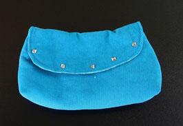 Clutch Handtasche, hellblau
