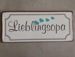 Blech-Schild Lieblingsopa