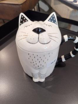 Katzen Dose auf Porzellan
