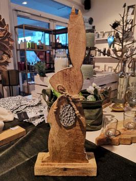 Holz Hase aus Mangoholz