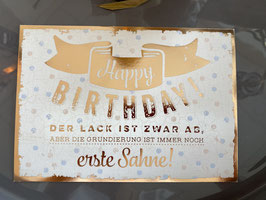 Happy Birthday Postkarte