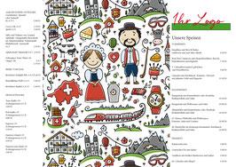 Tischset Swiss Comic