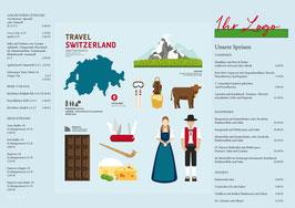 Tischset Travel Switzerland